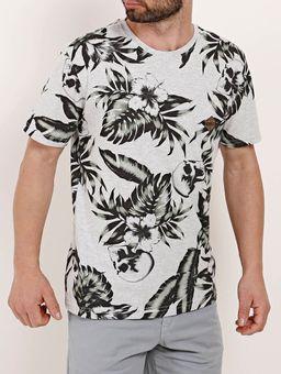 Camiseta-Manga-Curta-Masculina-Full-Surf-Cinza-verde