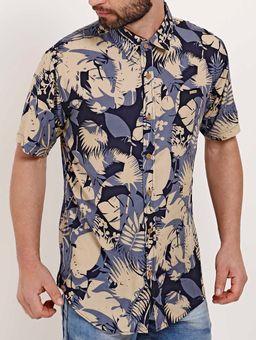 Camisa-Manga-Curta-Masculina-Dixie-Azul-bege-P