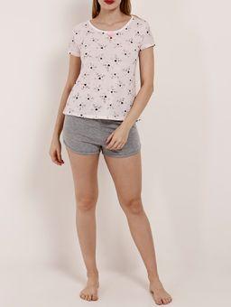 Pijama-Curto-Feminino-Bege-cinza-P