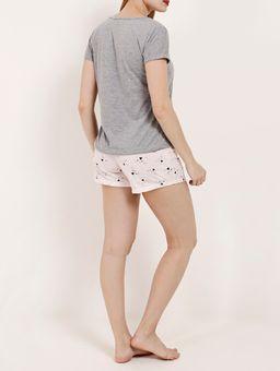 Pijama-Curto-Feminino-Cinza-rosa-P