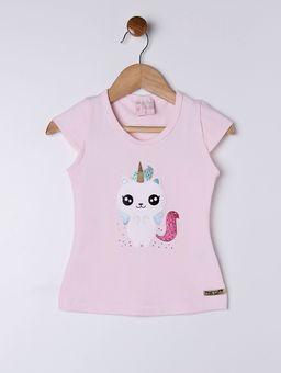 Blusa-Manga-Curta-Infantil-Para-Menina---Rosa-1