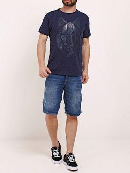 Camiseta-Manga-Curta-Masculina-Dixie-Azul-Marinho-P