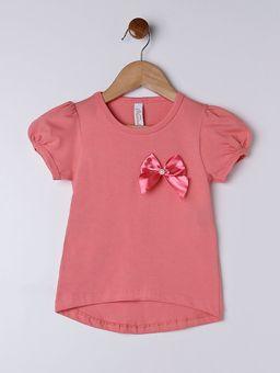 Blusa-Manga-Curta-Infantil-Para-Menina---Salmao-1