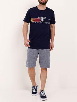 Camiseta-Manga-Curta-Masculina-Gangster-Azul-Marinho-P