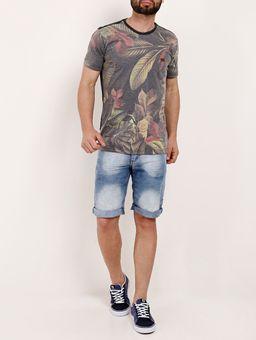 Camiseta-Manga-Curta-Masculina-Gangster-Cinza-laranja-P