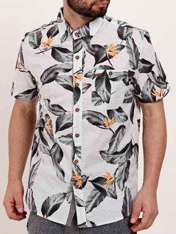 Camisa-Manga-Curta-Masculina-Gangster-Cinza-P