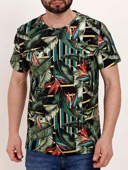 Camiseta-Manga-Curta-Masculina-Dixie-Preto-verde-P