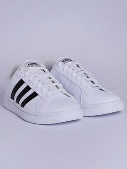 Tenis-Casual-Feminino-Adidas-Grand-Court-Base-Branco-preto-34