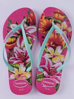 Chinelo-Feminino-Havaianas-Slim-Floral-Rosa-verde-33-34