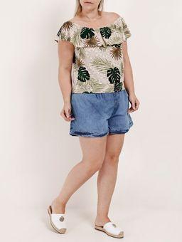 Blusa-Ciganinha-Plus-Size-Feminina-Autentique-Bege-verde-G2