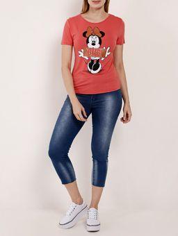 Blusa-Manga-Curta-Feminina-Disney-Coral-P