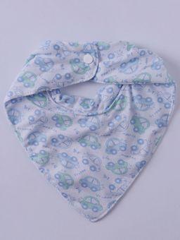 Babador-Bandana-Impermeavel-Infantil-para-Bebe-Menino---Azul-branco