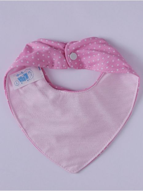 Babador-Bandana-Impermeavel-Infantil-para-Bebe-Menina---Rosa