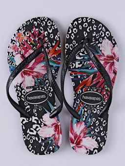 Chinelo-Slim-Feminino-Havaianas-Animal-Floral-Preto-33-34