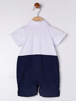 Macacao-Infantil-Para-Bebe-Menino---Branco-azul-Marinho-P