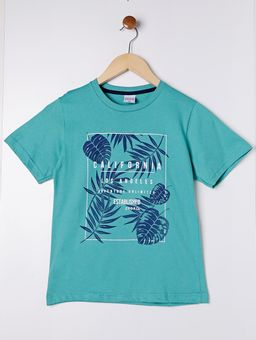 Camiseta-Manga-Curta-Juvenil-Para-Menino---Verde-10