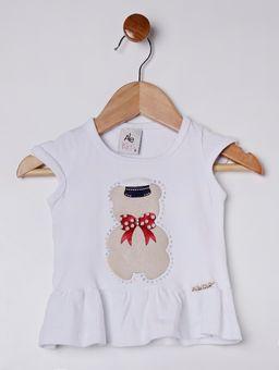 Conjunto-Infantil-Para-Bebe-Menina---Branco-azul-Marinho-P