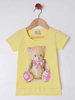 Blusa-Manga-Curta-Infantil-para-Menina---Amarelo