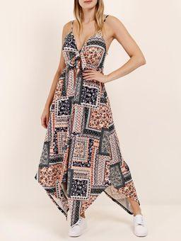 Vestido-Estampado-Autentique-Feminino-Azul-multicolorido