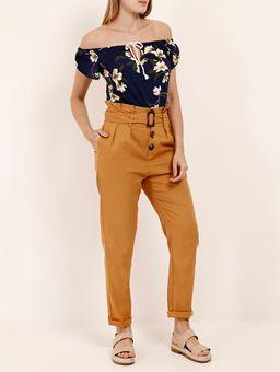 Blusa-Ciganinha-Floral-Feminina-Azul-Marinho