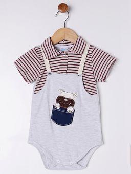 Body-Infantil-Para-Bebe-Menino---Bordo-cinza-P