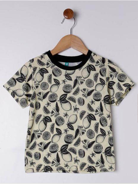 Camiseta-Manga-Curta-Estampa-Frutas-Infantil-para-Menino---Amarelo
