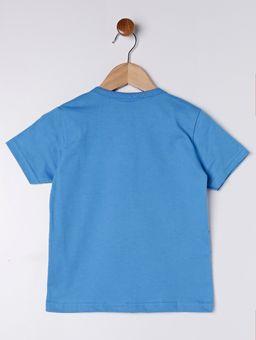 Camiseta-Manga-Curta-Estampa-Frontal-Infantil-para-Menino---Azul