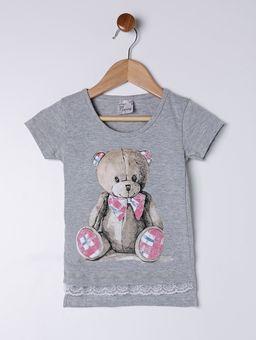 Blusa-Manga-Curta-Infantil-para-Menina---Cinza
