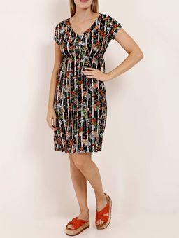 Vestido-Floral-Feminino-Preto