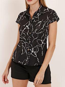 Camisa-Estampada-Manga-Curta-Feminina-Preto
