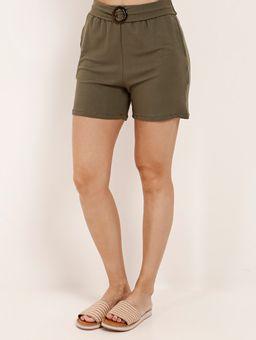 Short-de-Tecido-com-Fivela-Autentique-Feminino-Verde
