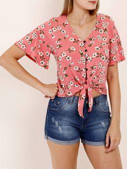 Camisa-Manga-Curta-Autentique-Feminina-Rosa-P
