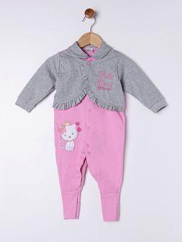 Macacao-Infantil-Para-Bebe-Menina---Rosa-cinza-P