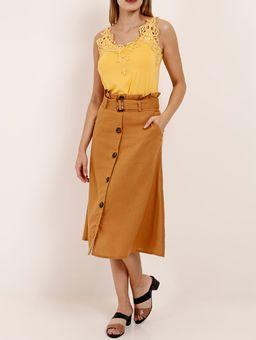 Blusa-Regata-Alca-Fina-Autentique-Feminina-Amarelo