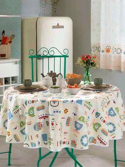 Toalha-de-Mesa-Redonda-Dohler-Bege-multicolorido