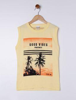Camiseta-Regata-Estampa-Coqueiros-Juvenil-para-Menino---Amarelo