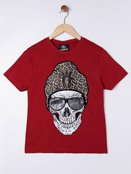Camiseta-Manga-Curta-Juvenil-Para-Menino---Bordo-16