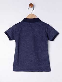 Polo-Estampada-Manga-Curta-Infantil-para-Menino---Azul