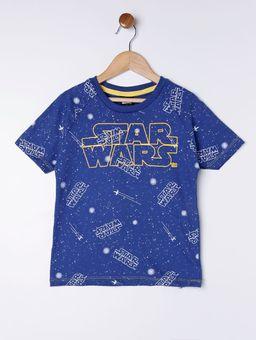 Camiseta-Manga-Curta-Star-Wars-Infantil-para-Menino---Azul