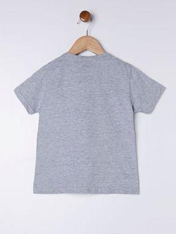 Camiseta-Manga-Curta-Estampa-Frontal-Infantil-para-Menino---Cinza