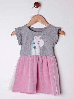 Vestido-Infantil-Para-Bebe-Menina---Cinza-rosa-P