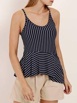 Blusa-Regata-Listrada-Feminina-Azul-Marinho