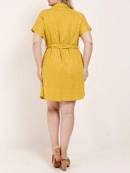 Vestido-Manga-Curta-Plus-Size-Feminino-Amarelo