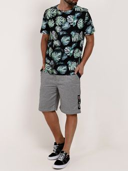 Camiseta-Estampada-Manga-Curta-Masculina-Preto-verde