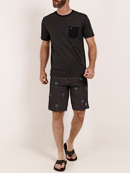 Bermuda-Tropical-Federal-Art-Masculina-Preto-38