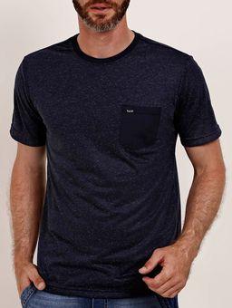 Camiseta-Bolso-Manga-Curta-Vels-Masculina-Azul-Marinho