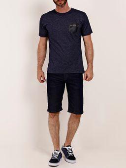 Camiseta-Manga-Curta-com-Bolso-Masculina-Full-Surf-Azul
