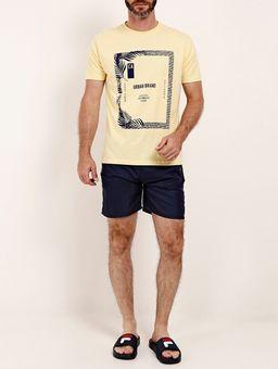 Camiseta-Manga-Curta-Gola-Careca-Masculina-Amarelo