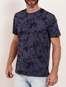 Camiseta-Estampada-Manga-Curta-Full-Surf-Masculina-Azul-Marinho