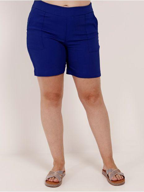 Short-Basico-de-Tecido-Plus-Size-Feminino-Azul-Marinho-G2